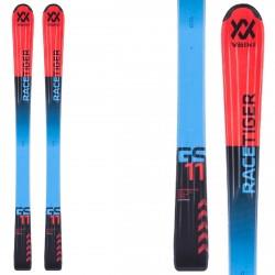 Ski Volkl Racetiger Jr Flat + fixations SL 4.5 rouge
