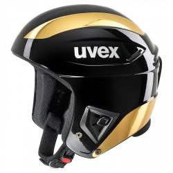 Casco sci Uvex Race+ nero-oro