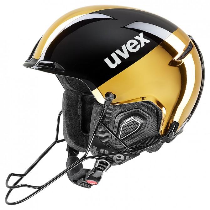Casco esquí Uvex Jakk + SL negro-oro