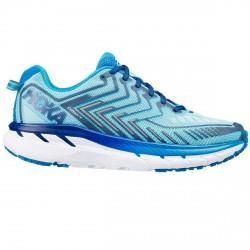 Zapatos trail running Hoka One One Clifton 4 Mujer azul claro