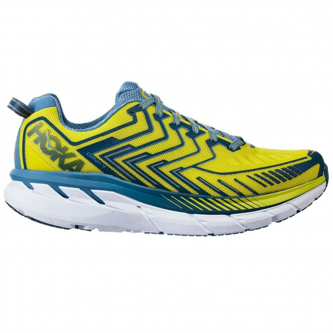 dec53ee3869659 Chaussures trail running Hoka One One Clifton 4 Homme jaune