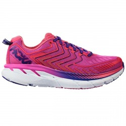 Zapatos trail running Hoka One One Clifton 4 Mujer fucsia