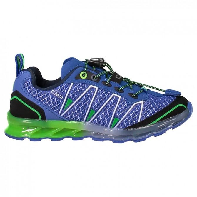 Chaussure trail running Atlas Junior bleu-vert (25-32)