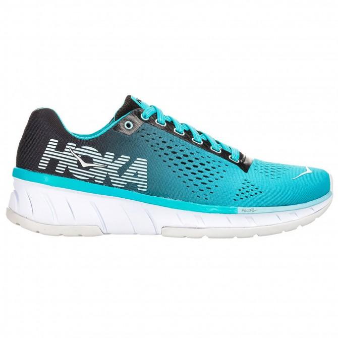 Chaussures running Hoka One One Cavu Femme bleu clair