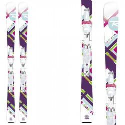 esqui Rossignol Fun Girl (100-130) + fijaciones Xelium Kid Saphir 45 B69