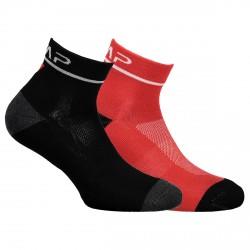 Calze running Cmp Cotton rosso-nero