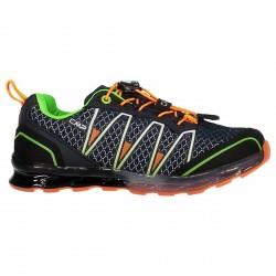 Zapato trail running Atlas Junior azul-naranja (25-32)