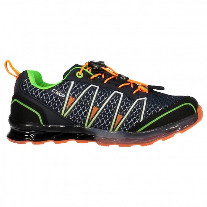 Zapato trail running Atlas Junior azul-naranja (25-32)