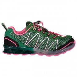 Chaussure trail running Atlas Junior vert-rose (25-32)