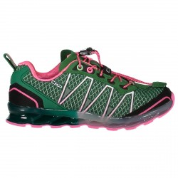 Zapato trail running Atlas Junior verde-rosa (33-40)