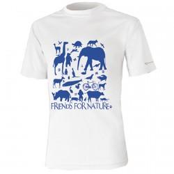 T-shirt trekking Nordsen Gurla Junior blanc