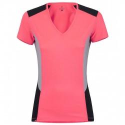 T-shirt Montura Sunny outdoor corallo fluo-grigio-nero