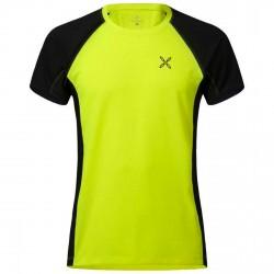 T-shirt trekking Montura Outdoor Hill Uomo nero-verde acido