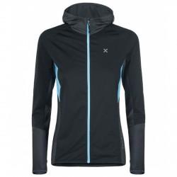 Suéter trekking Montura Combo Full Zip Mujer gris