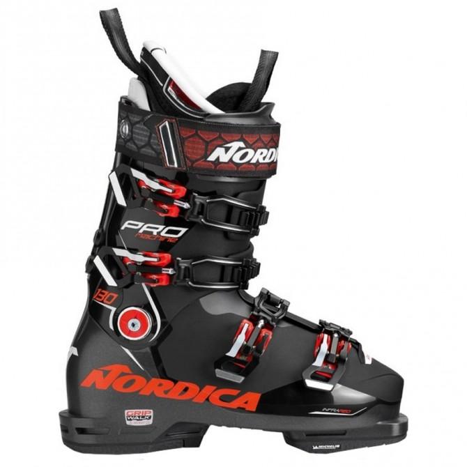 Scarponi sci Nordica Pro Machine 130 nero-rosso