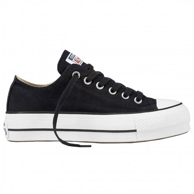 Sneakers Converse Chuck Taylor All Star Lift Clean Core Donna nero CONVERSE Scarpe moda