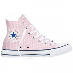 Scarpe Converse Chuck Taylor All Star bianco-rosa quadri