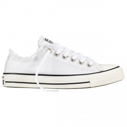 Sneakers Converse Chuck Taylor All Star Frayed Femme blanc