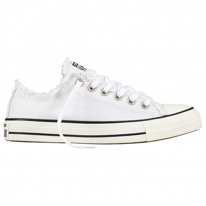 Sneakers Converse Chuck Taylor All Star Frayed Donna bianco