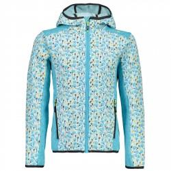 Pile Cmp Girl azzurro fantasia CMP Abbigliamento outdoor junior