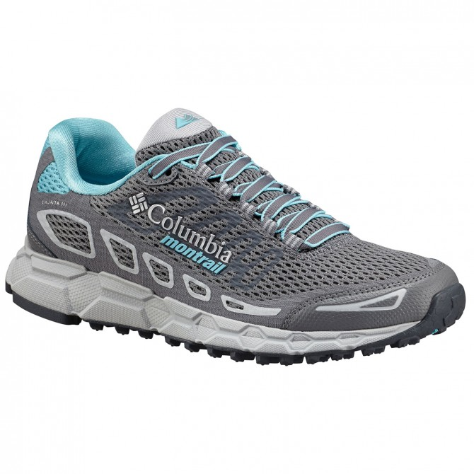 Chaussures trail running Columbia Bajada III Femme gris
