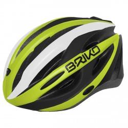 Casco ciclismo Briko Shire amarillo-negro