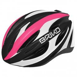 Casco ciclismo Briko Shire fucsia-blanco