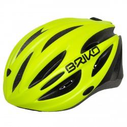 Casco ciclismo Briko Shire giallo fluo