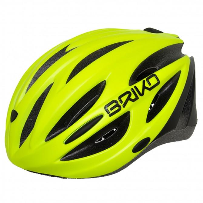 Casco ciclismo Briko Shire amarillo fluo