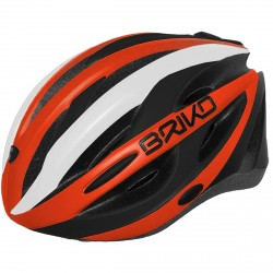 Casque cyclisme Briko Shire orange-noir
