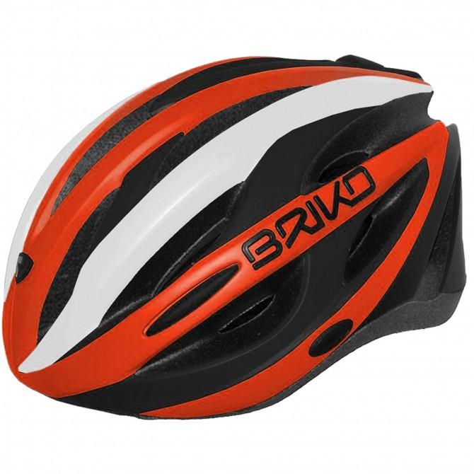 Casco ciclismo Briko Shire arancione-nero BRIKO Caschi