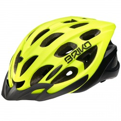 Casco ciclismo Briko Quarter amarillo fluo
