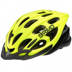 Casco ciclismo Briko Quarter giallo fluo-nero