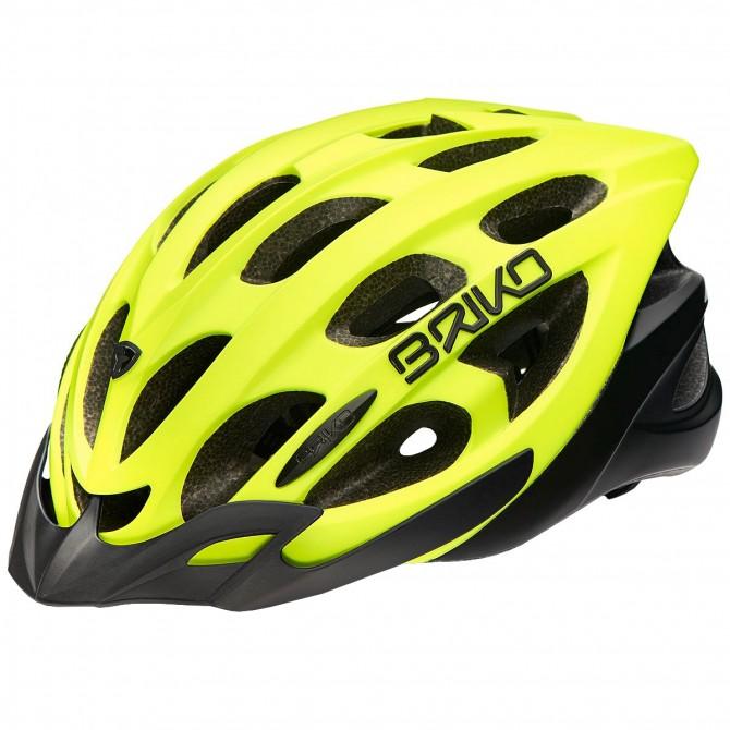 Casco ciclismo Briko Quarter giallo fluo