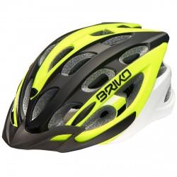 Casco ciclismo Briko Quarter giallo-nero