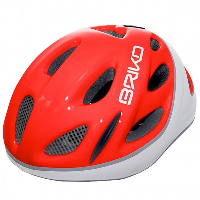 Casco ciclismo Briko Pony Junior rosso