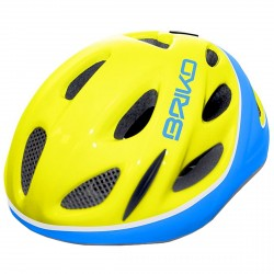 Casco ciclismo Briko Pony Junior amarillo-azul