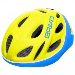 Casque cyclisme Briko Pony Junior jaune-bleu