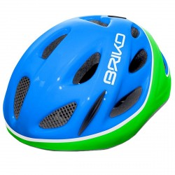 Casco ciclismo Briko Pony Junior azul-verde