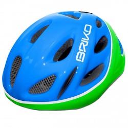 Casque cyclisme Briko Pony Junior bleu-vert