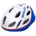 Casco ciclismo Briko Pony Junior bianco-blu-rosso