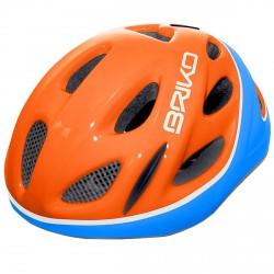 Casco ciclismo Briko Pony Junior naranja-azul