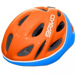 Casque cyclisme Briko Pony Junior orange-bleu