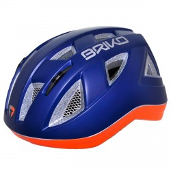 Casco ciclismo Briko Paint Junior blu-arancione