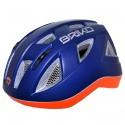 Casco ciclismo Briko Paint Junior blu-arancione
