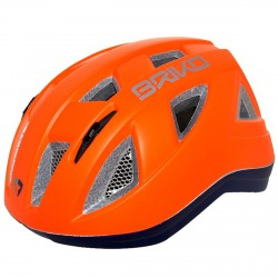Casco ciclismo Briko Paint Junior naranja