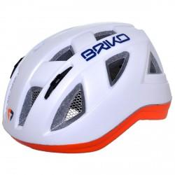 Casco ciclismo Briko Paint Junior bianco-arancione