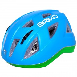 Casco ciclismo Briko Paint Junior azul-verde