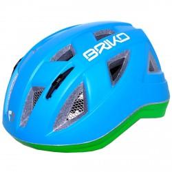 Casco ciclismo Briko Paint Junior blu-verde