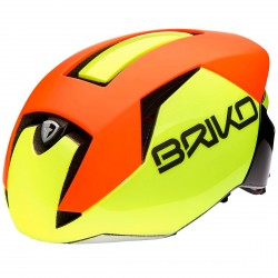 Casque cyclisme Briko Gass jaune-orange